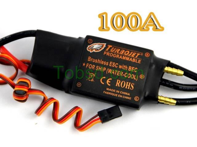 100A Water Cool Brushless Motor ESC for Boat with BEC Free Shipping