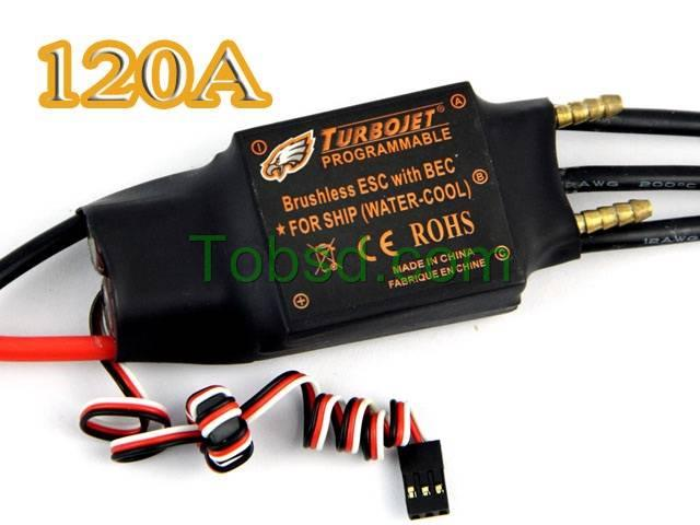120A Water Cool Brushless Motor ESC for Boat with BEC Free Shipping