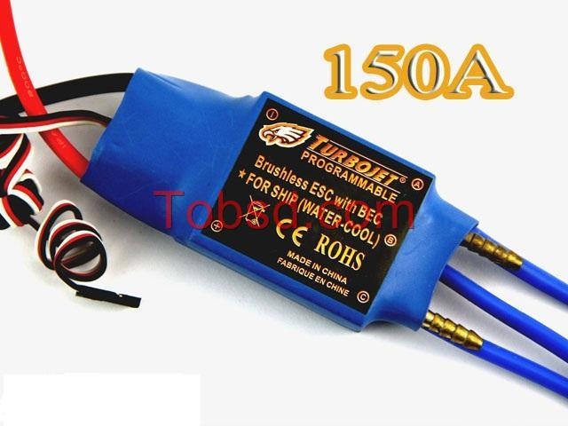 150A Water Cool Brushless Motor ESC for Boat with BEC Free Shipping