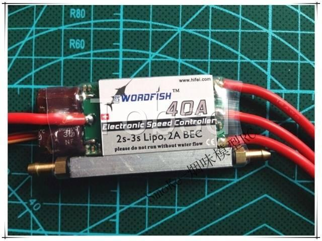 Swordfish 40A Water Cool Brushless Motor ESC for Boat with BEC