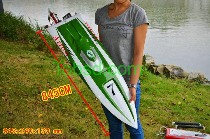 33 inches Green ARTR EP Fibreglass Mono 2 Deep-vee Arowana Racing Rc Boat
