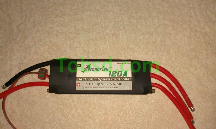 Swordfish 120A Water Cool Brushless Motor ESC for Boat with BEC