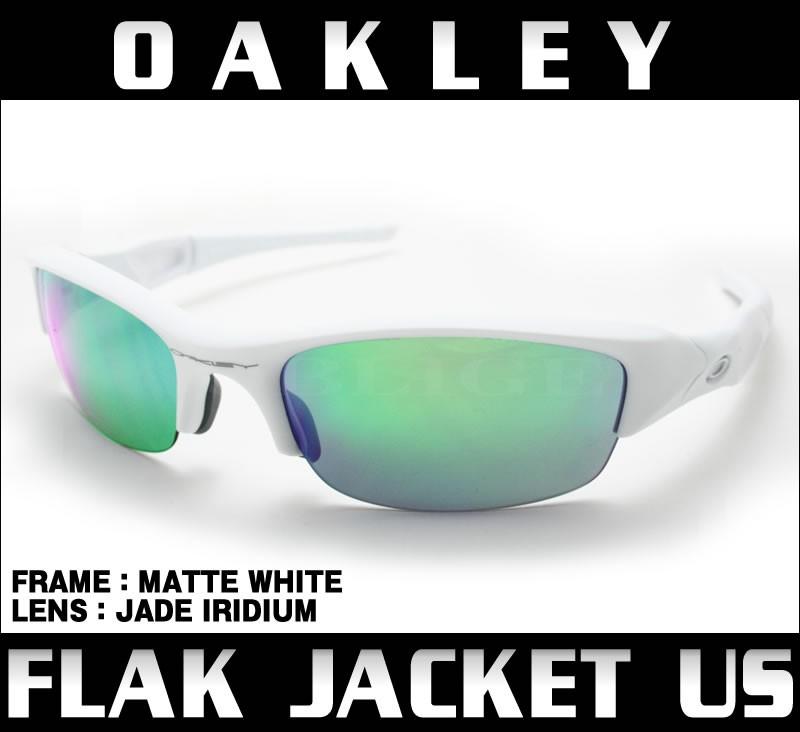 4f413c50d2d Oakley Flak Jacket Matte White Jade Iridium « Heritage Malta