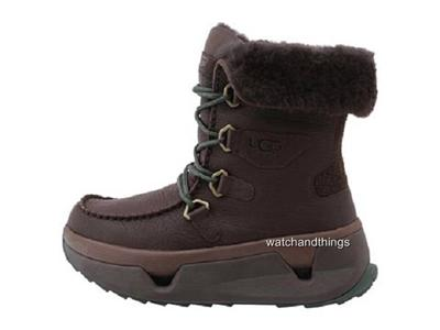 new ugg australia auden brown leather s winter