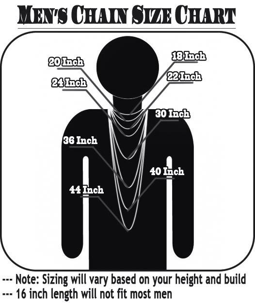 Image Gallery Jewellery Chain Sizes Explained