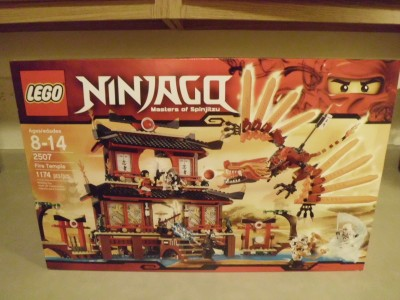Lego 2507 NINJAGO FIRE TEMPLE New Factory SEALED Box