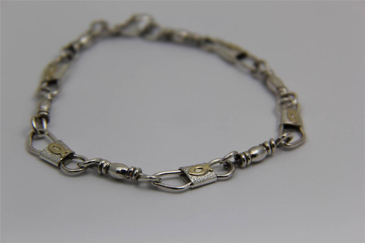 acts sterling silver fishers of bracelet with 10kt