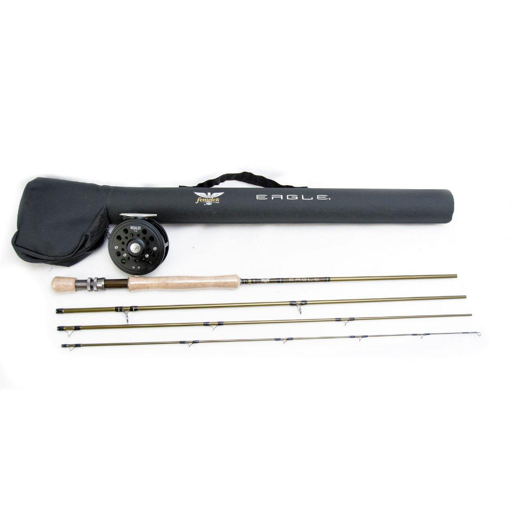 Pflueger eagle medalist fly rod reel combo includes line for Pflueger fishing rods