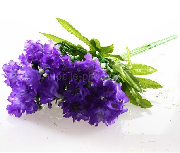 Artificial Fake Carnation Silk Flower Bouquet Home Party Office Wedding Decor
