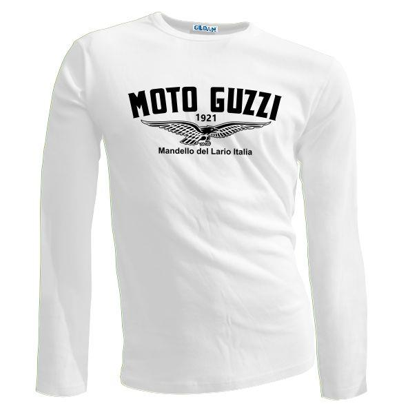 New vintage retro classic moto guzzi wings motorcycle for Retro long sleeve t shirts
