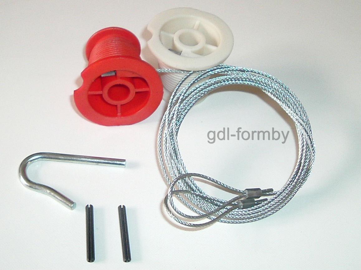 Henderson garage door c clip rollers cables cones full for Cost to repair garage door cable
