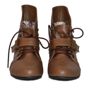 Simple Light Brown Boots For Women Flat Tan Color Shoes