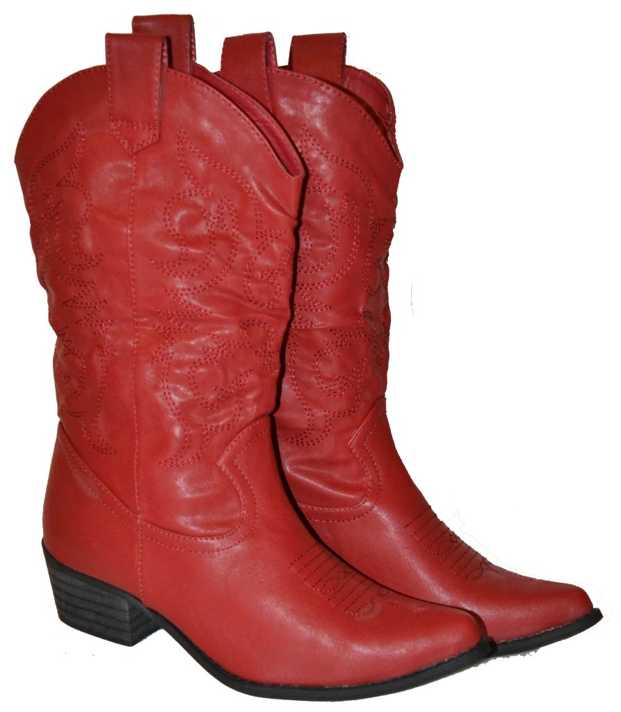 Amazing Girl Cowboy Boots  Red Cowboy Boots For Women