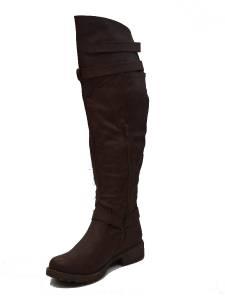 womens brown the knee high boots w flat heel