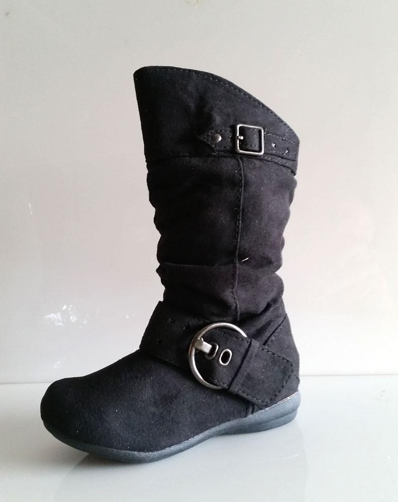 new toddler black or gray suede zipper boots size 4