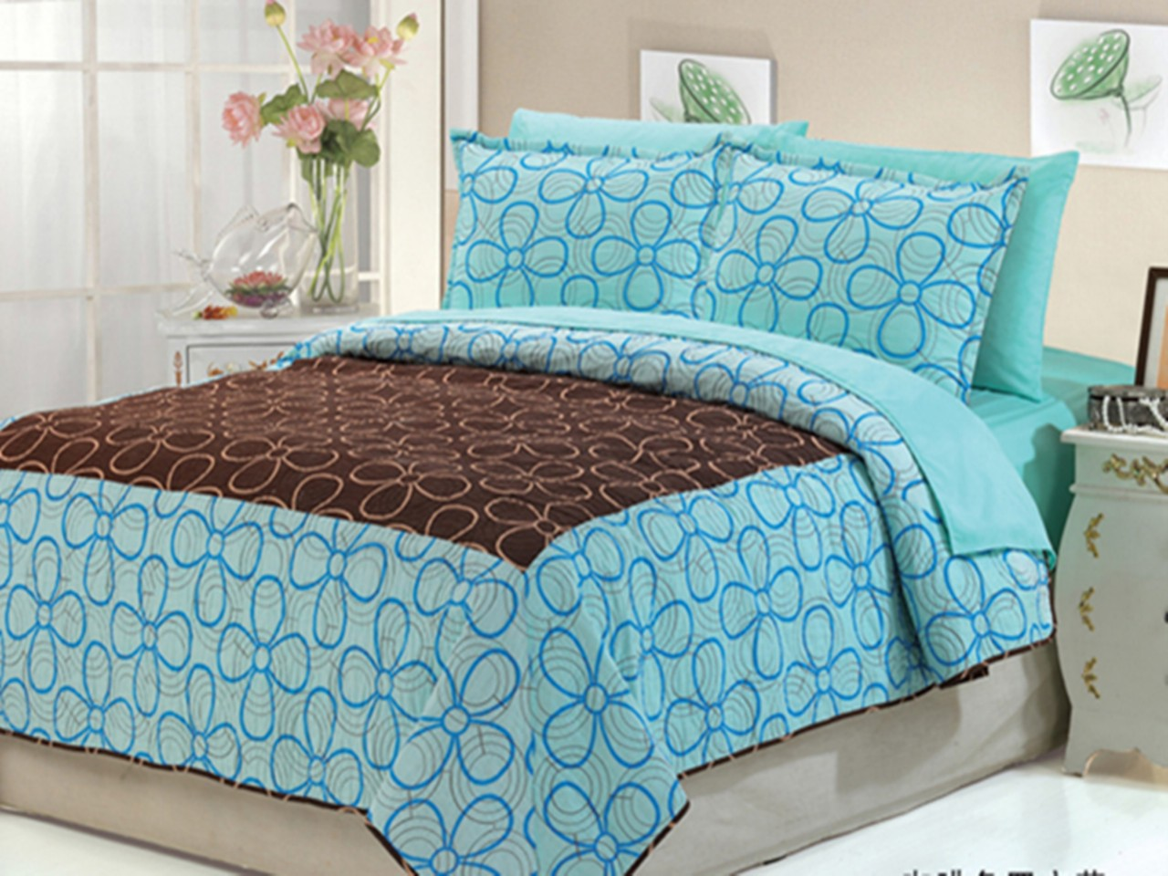Home amp garden gt bedding gt comforters amp sets gt see more 7 pc faux fur - 7pc Leopard Bedspread Dasiy Dream Coffee
