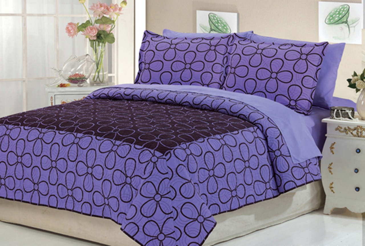 Home amp garden gt bedding gt comforters amp sets gt see more 7 pc faux fur - 7pc Leopard Bedspread Dasiy Dream Coffee Dasiy Dream Purple