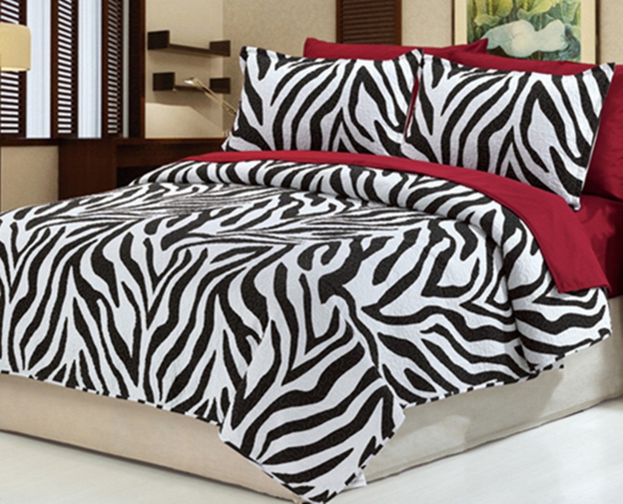 Home amp garden gt bedding gt comforters amp sets gt see more 7 pc faux fur - 7pc Zebra Bedspread