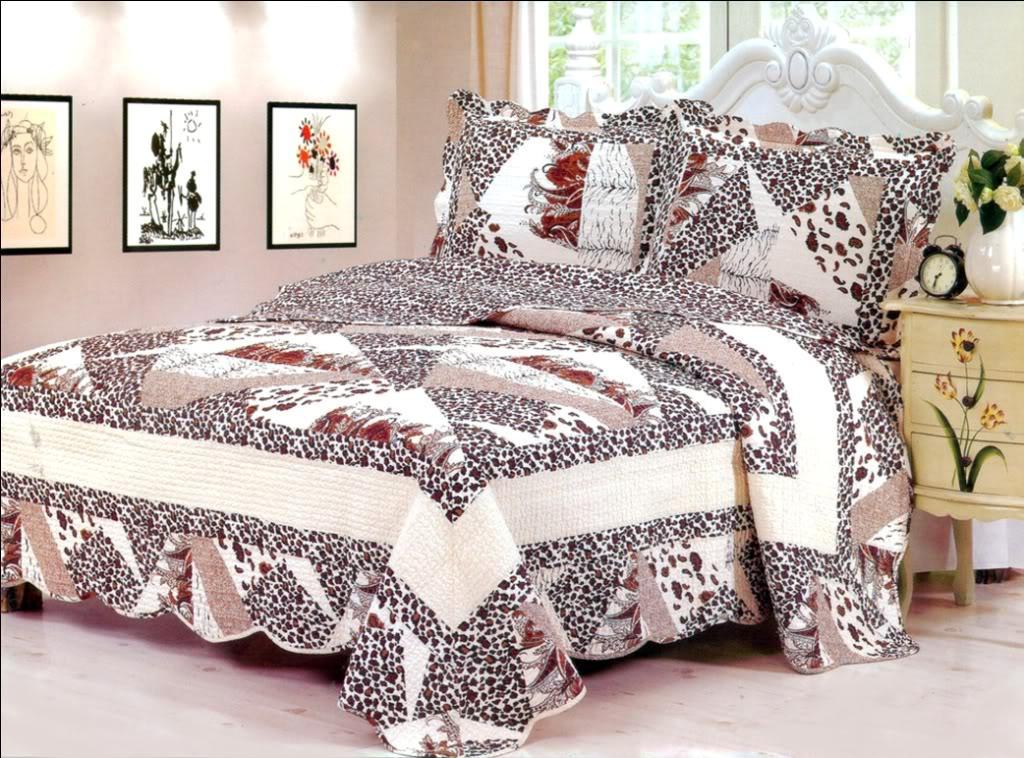 3PC Leopard Bedspread