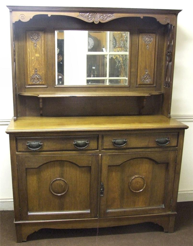 antique oak sideboard with mirror  eBay