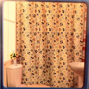 New Disney Mickey Minnie Mouse Shower Curtain 180x180cm