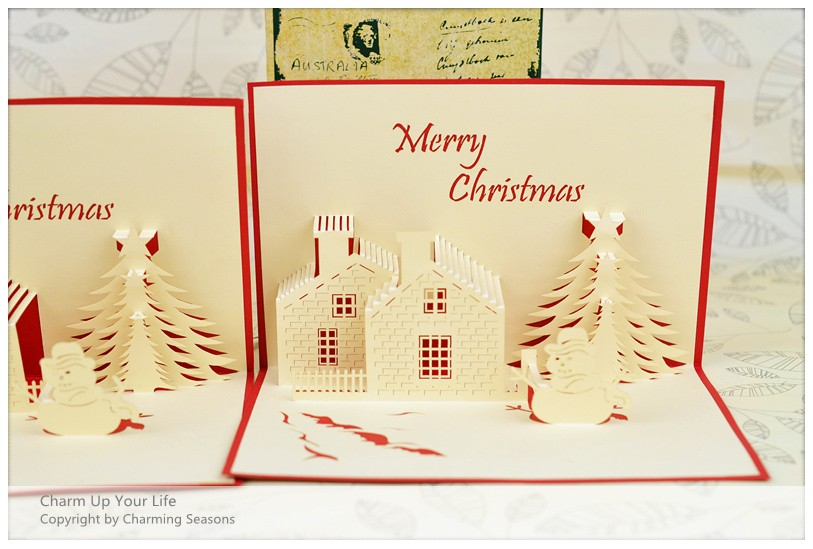 Origami Handcrafted 3D Greeting Card Merry Christmas Tree ...