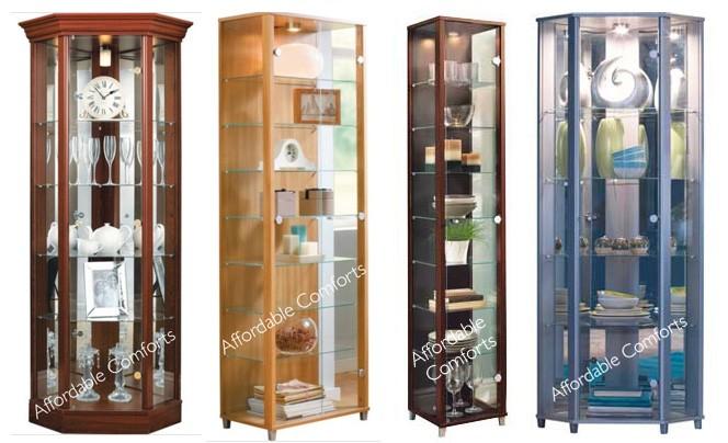 ex displayflat pack single double u0026amp corner glass door display cabinet
