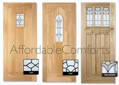 External solid oak cottage door tuscany door wooden for Solid wood exterior back doors