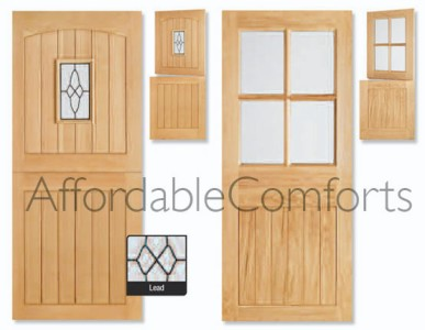external solid oak cottage stable door wooden front back door new