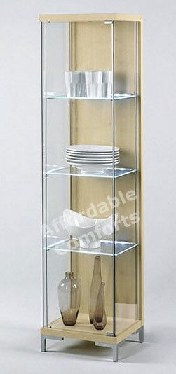 large glass display cabinet led shelf lighting singles amp doubles uk