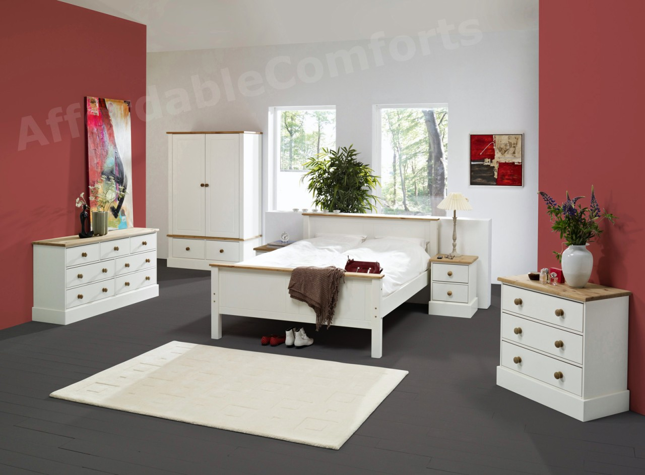 white painted pine bedroom furniture