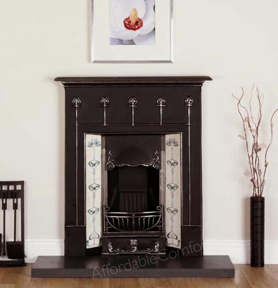 Clifton Cast Iron Fireplace Gas Fire Open Fire Effect Marble Hearth Option Ebay