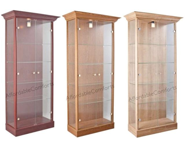Traditional-Glass-Display-Double-Cabinet-in-Mahogany-Dark-Oak-or-Light-Oak