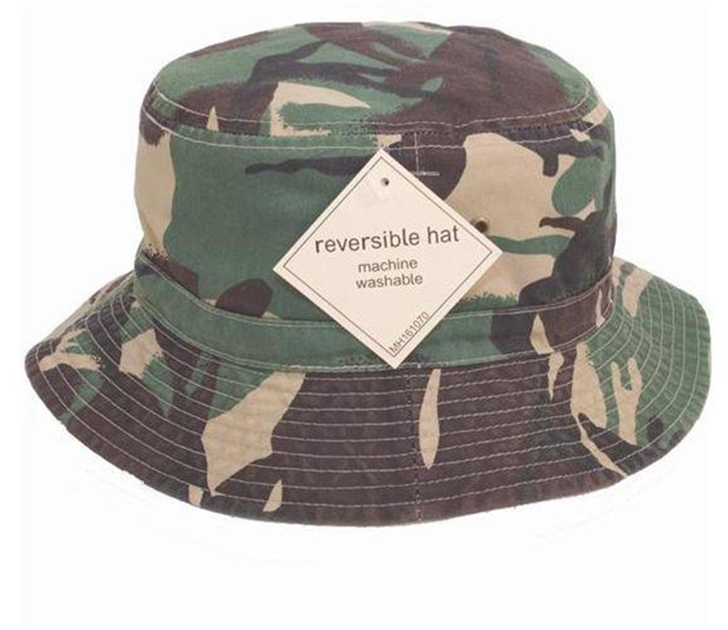 mens reversible bucket hat camo design sun hat camouflage