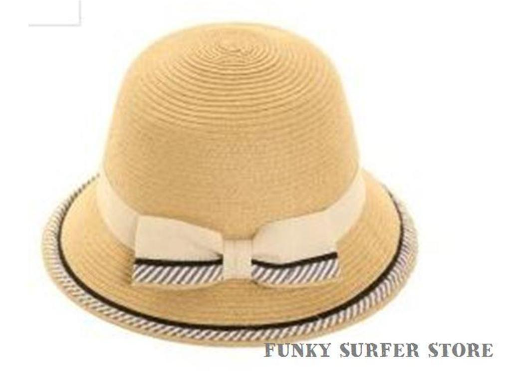 womens vintage style cloche straw summer sun hat crushable