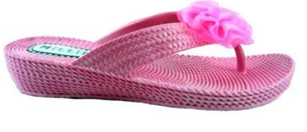 Cuña Flip Flop para Mujer Toe Post Verano Playa Jalea Sandalias Zapatos Uk Size 3-8