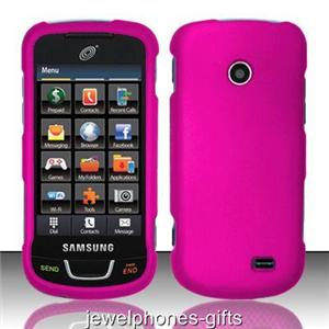 For Samsung T528G (StraightTalk) Rose Pink Rubberized Hard Cell Phone