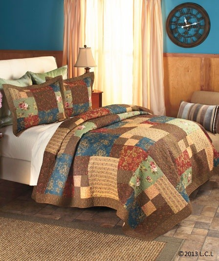 Rachel quilted bedding or valance queen or king sham for King shams on queen bed