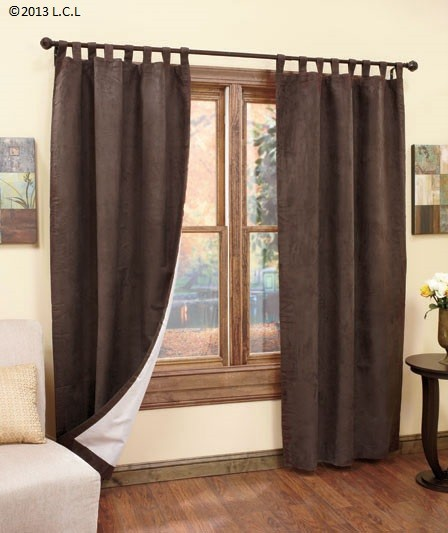 Insulated Sueded Curtains -tab-top panels- Keep light and noise out ...