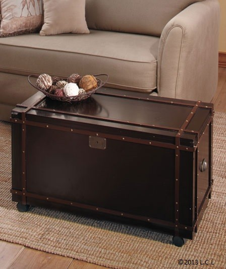 "Trunk Coffee Table With Storage: ""WOODEN"" Trunk Coffee Or Side Tables"
