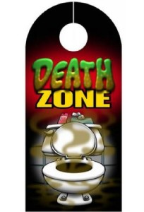 Farting poop death zone door hanger funny sign ebay for Door zone llc