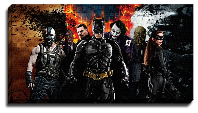 New batman dark knight rises canvas art wall art large for Dark knight rises wall mural