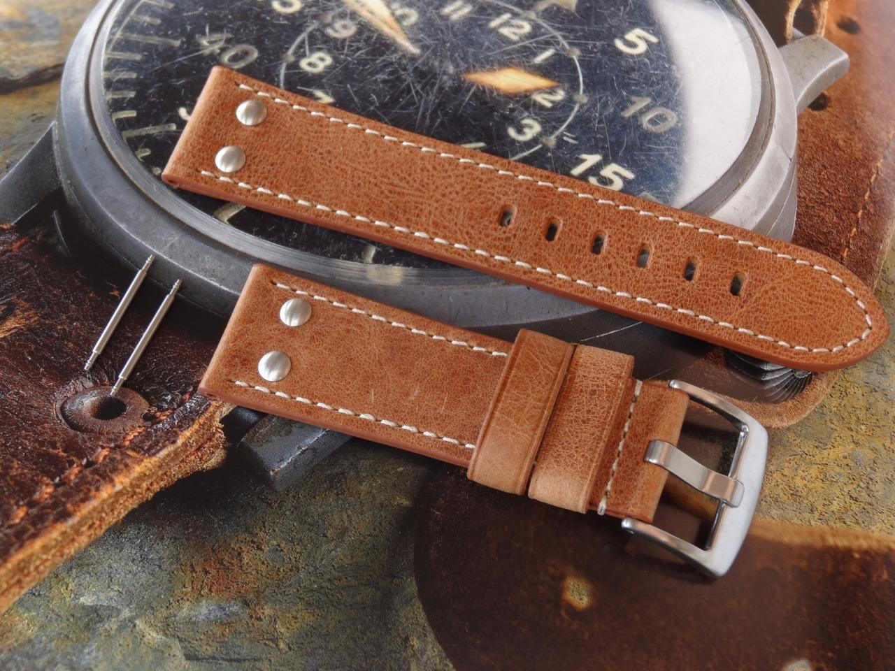 RIVETS LEATHER MILITARY ARMY STRAP BAND HAND MADE TO FIT ...