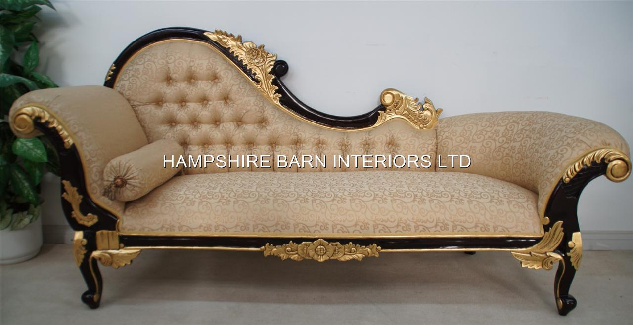french period xv louis chaise longue