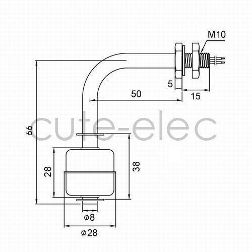 mini stainless steel liquid water level sensor internal