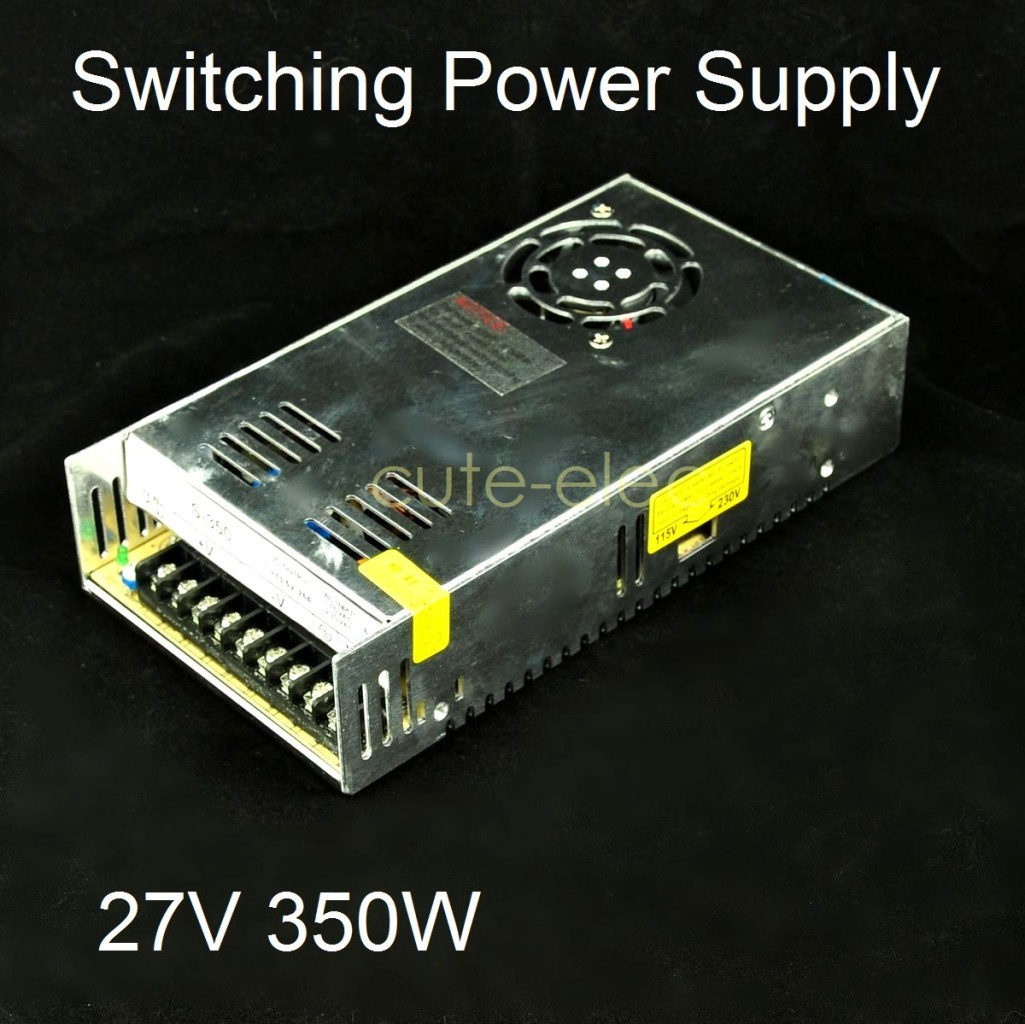 27v dc 13a 350w regulated switching power supply new s 350 27 ebay. Black Bedroom Furniture Sets. Home Design Ideas