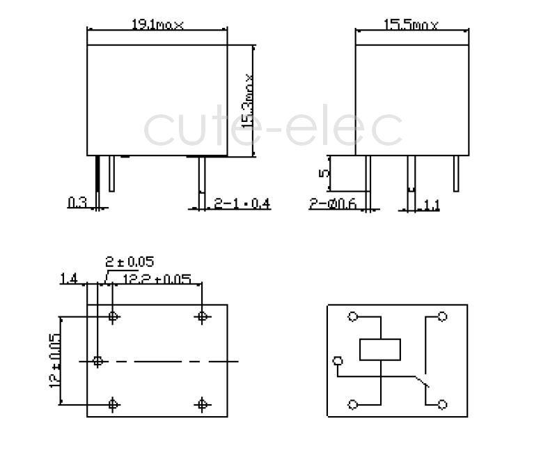 5v 1 spdt relay schematic single pole single throw relay schematic