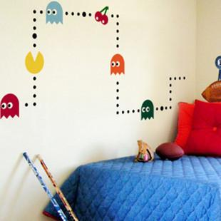 Pacman Game Mural Art Wall Stickers Vinyl Decal Home Kids Room Decor