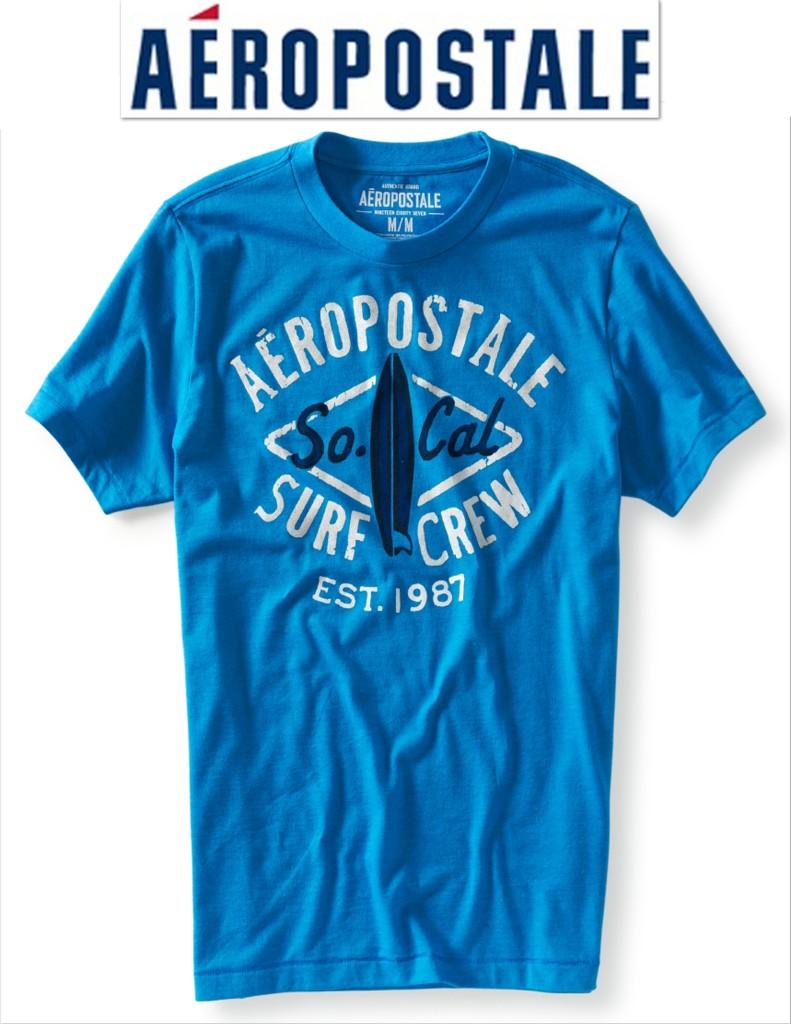 Great Aeropostale T Shirt XS M XL Black Shite Blue Grey ...