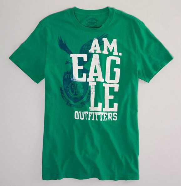 Nwt american eagle s l xl xxl graphic t shirt green white for Xxl tall graphic t shirts